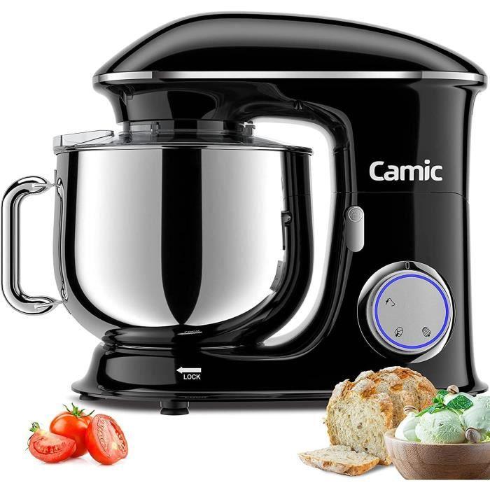 Camic Robot Pacirctissier Multifonctions Peacutetrin 8L 1500W Puissant Robot de Cuisine avec Crochet Peacutetrisseur Batteur [3085]