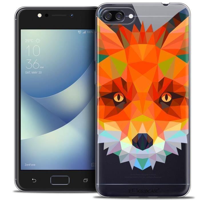 Coque Gel Asus Zenfone 4 MAX ZC520KL (5.2 ) Extra Fine Polygon Animals - Renard