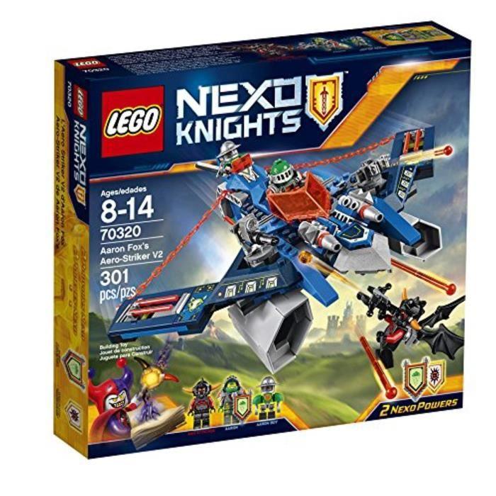 Jeu D'Assemblage LEGO GFQI4 Nexo Knights 70320 Aero-Striker Aaron Fox V2 Kit de construction (301 Piece