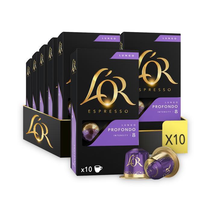 L'Or Espresso Café - 40 Capsules Lungo Profondo Intensité 8 - Compatibles Nespresso®*