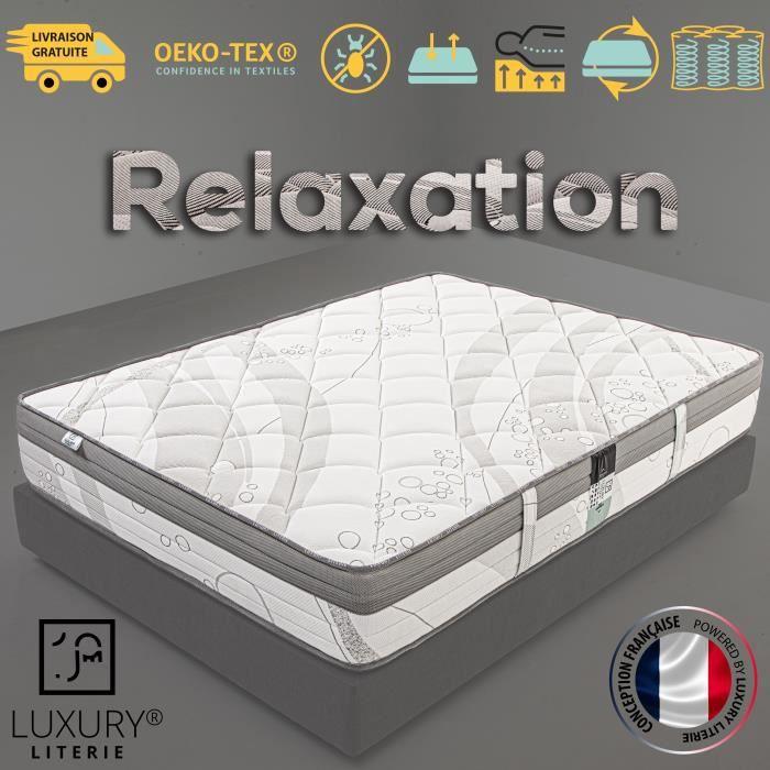 Matelas 140x190 cm Relaxation, Ressorts Ensachés, Mousse Haute Densité, Indépendance du Couchage, Soutien Ferme et Durable, 27cm (+/