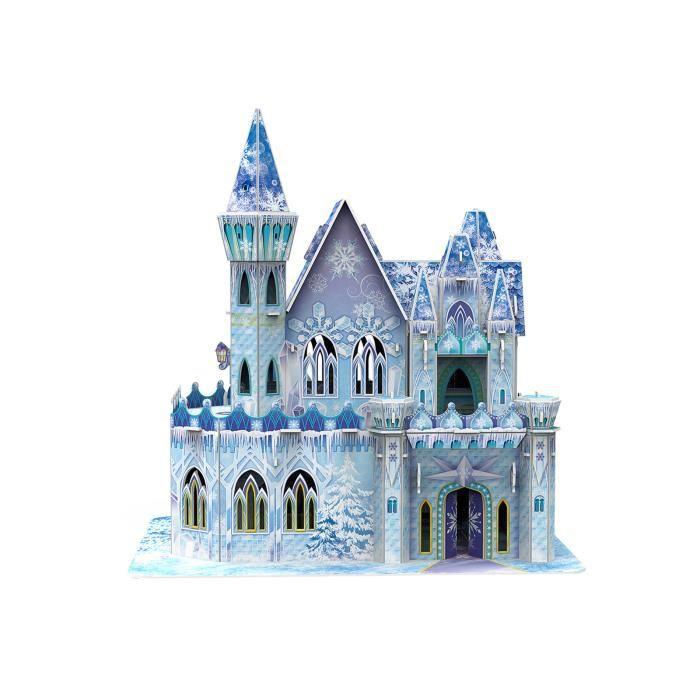 62pcs d'assemblage de blocs de construction jouets glace et neige château bricolage cabane jouets intéressants jouets éducatifs