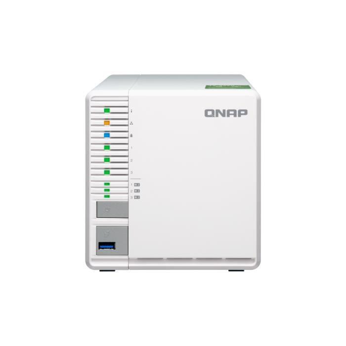 QNAP Système de stockage SAN/NAS TS-332X - 3 x Total de compartiments - 512 Mo Flash Memory Capacity - Annapurna Labs Alpine