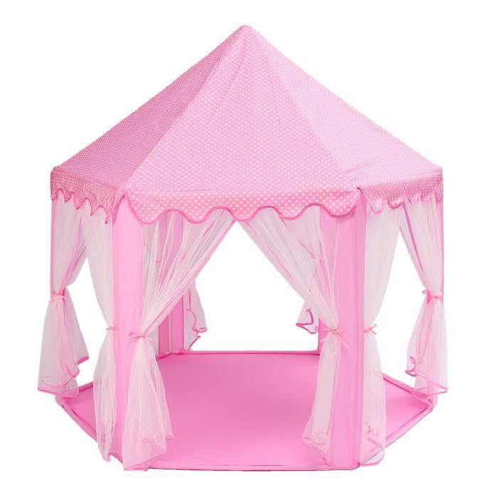 TEMPSA Pliable Tente de Jeu Portable extérieure pour Enfants Château Jouet Bébé Noel ROSE