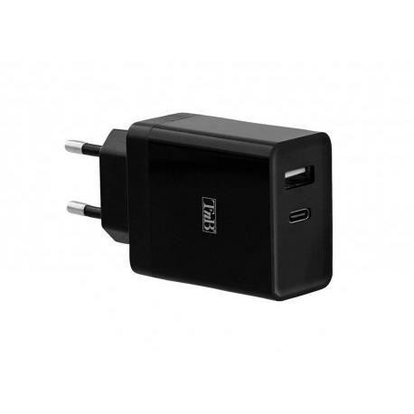 TNB CHPD30W - Chargeur secteur USB-C Power Delivery + USB-A 30W - noir