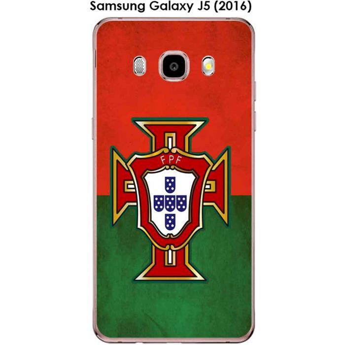 Coque Samsung Galaxy J5 (2016) design Foot Portugal fond drapeau ...