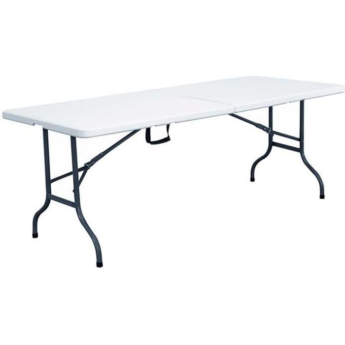 table pliante transportable 12 personnes 244 cm