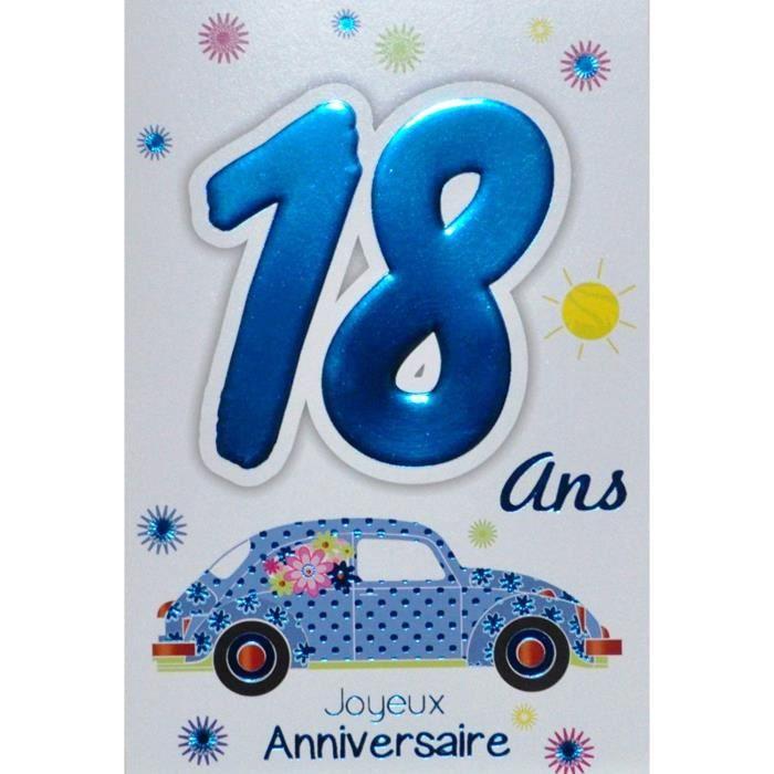 carte anniversaire 18 ans garçon Age Mv 69 2018 Carte Joyeux Anniversaire 18 ans Garçon Jeune Homme