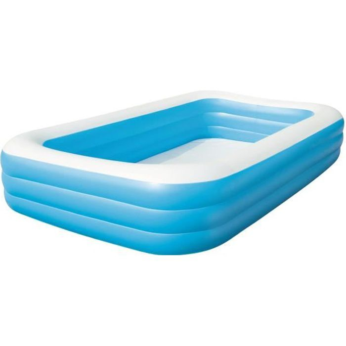 Piscine gonflable enfant et familiale deluxe 3 05x1 83x0 for Piscine enfant gonflable