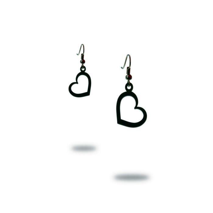 Boucle d'oreille Boucles d'Oreilles pendantes à crochets Femme Coeu