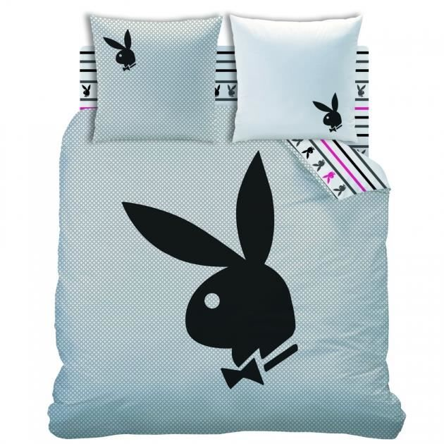 playboy housse de couette parure de lit achat. Black Bedroom Furniture Sets. Home Design Ideas