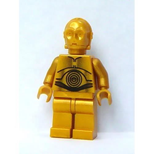 Lego star wars mini figurine c 3po gold pearl a new - Personnage star wars lego ...
