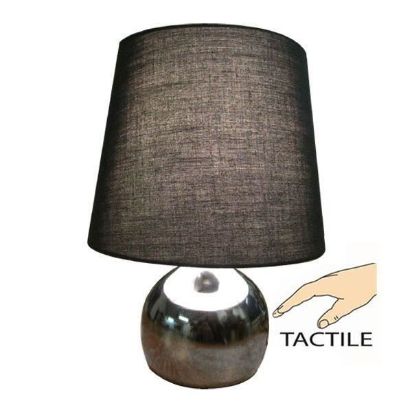 lampe tactile oneshot noire achat vente lampe tactile. Black Bedroom Furniture Sets. Home Design Ideas