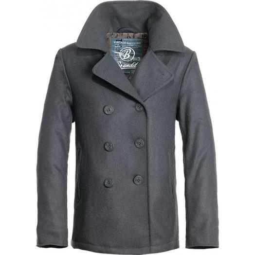 Hommes Coat Vente Manteau Pea Anthracite Achat Brandit K1J3TulFc
