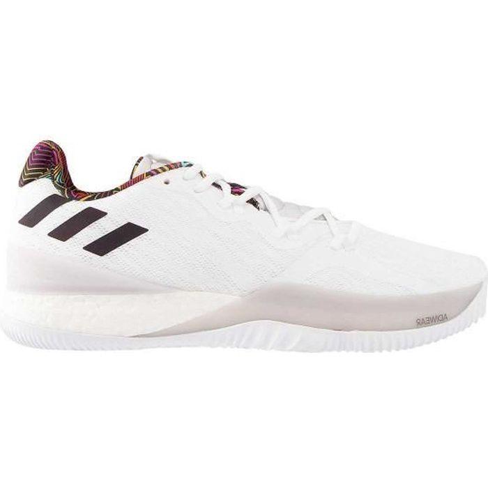 Chaussure de Basketball adidas Crazy Light Boost 2 Low Blanc