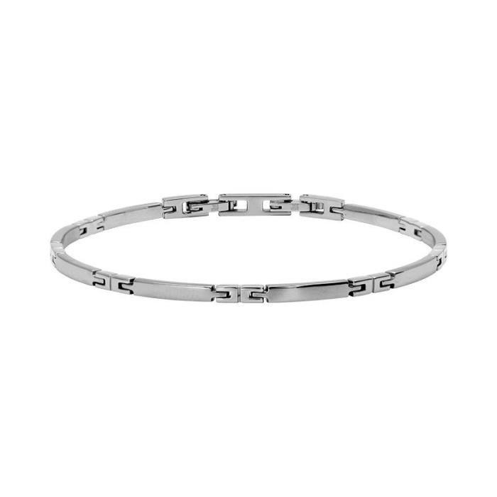 BRACELET - GOURMETTE Bracelet Homme ROCHET modèle ASTRID Argenté - B043