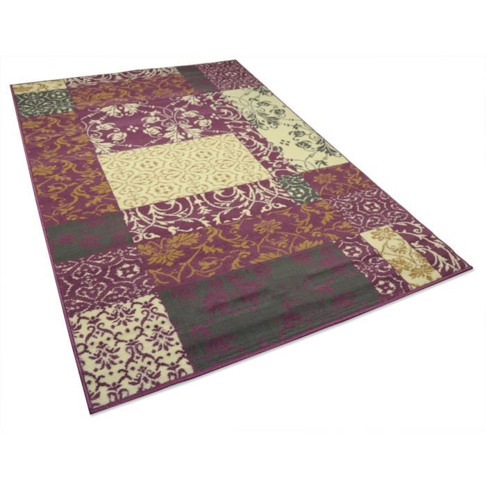 tapis salon baroque violet universol achat vente tapis cdiscount. Black Bedroom Furniture Sets. Home Design Ideas