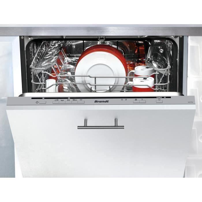 Lave-vaisselle encastrable BRANDT VH1772J - 12 couverts - Largeur 60 cm - 47 dB