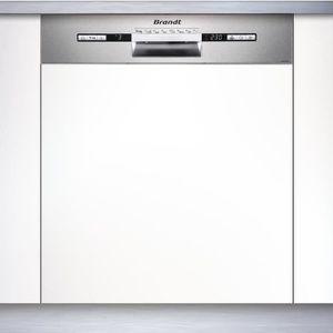 LAVE-VAISSELLE BRANDT VH1772X - Lave vaisselle encastrable - 12 c