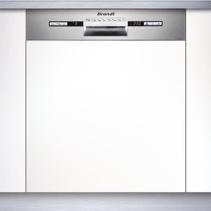 Brandt Vh1772x Lave Vaisselle Encastrable 12 Couverts 47 Db A L 59 8cm