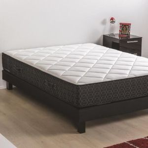 ENSEMBLE LITERIE DEKO DREAM Ensemble matelas + sommier en bois mass