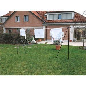 FIL À LINGE - ÉTENDOIR Etendoir à linge en T de jardin avec corde à linge