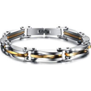 BRACELET - GOURMETTE Bracelet Gourmette Homme Acier - ALU DORE robuste