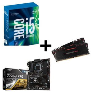 PACK COMPOSANT Kit Evo  Core i5-7500 MSI Z270-A 16Go DDR4 3000MHz