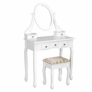 COIFFEUSE Homy Casa Coiffeuse Table de Maquillage MDF avec T