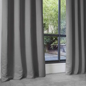 RIDEAU Rideau Occultant Uni en Polyester Gris 140 x 260 c