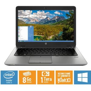 ORDINATEUR PORTABLE Pc portable HP elitebook 840 G1 core i5 8 go ram 1