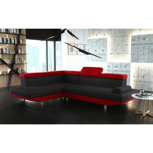 meridienne rouge achat vente meridienne rouge pas cher cdiscount. Black Bedroom Furniture Sets. Home Design Ideas