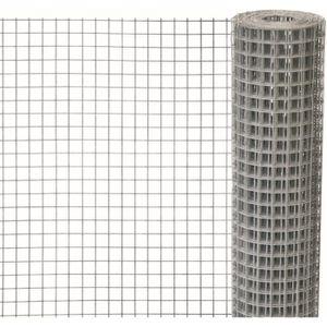 CLÔTURE - GRILLAGE Grillage 0,50x5m carré 12,7mm fer galvanisé Windha