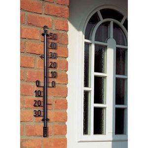 THERMOMÈTRE - BAROMÈTRE Thermomètre pour extérieur, métal 41 cm, couleur c