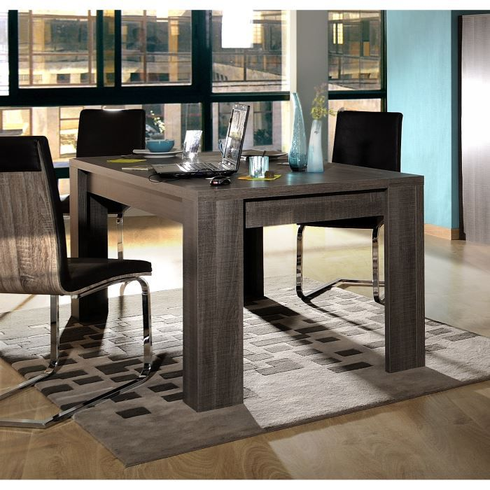 biarritz table extensible bois gris l180 260cm achat vente table a manger seule biarritz. Black Bedroom Furniture Sets. Home Design Ideas