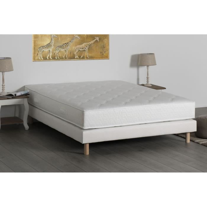 deko dream ensemble matelas sommier 160x200cm 24cm ressorts ensach s confort quilibr. Black Bedroom Furniture Sets. Home Design Ideas
