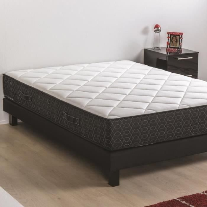 deko dream ensemble matelas sommier en bois massif 160 x 200 mousse polyur thane 30kg m3. Black Bedroom Furniture Sets. Home Design Ideas