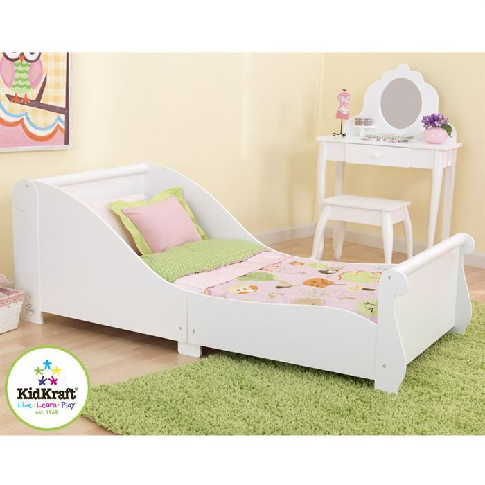 kidkraft lit tra neau enfant 70x140 cm blanc achat vente structure de lit cdiscount. Black Bedroom Furniture Sets. Home Design Ideas