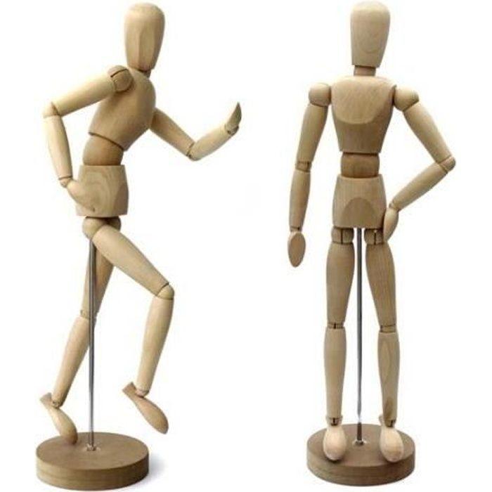 Artina - Modèle de dessin - Figurine pour dessin - Mannequin - En bois - 30cm