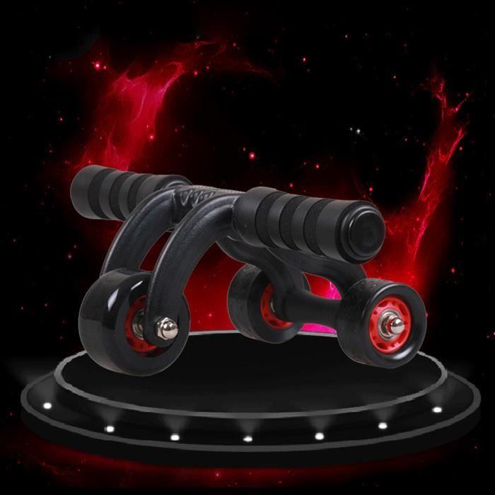 3 roues Fitness Ab rouleau entraînement Système abdominale Abs exercice séance d'entraînement @duo096