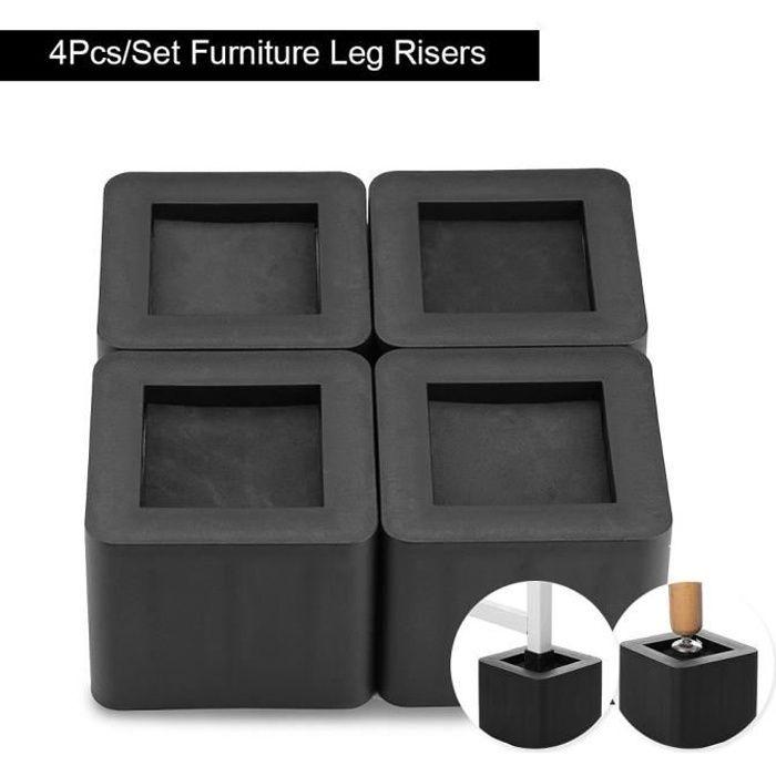 4Pcs / Set Rehausseur Pieds de lit Rehausseur Meuble en PP