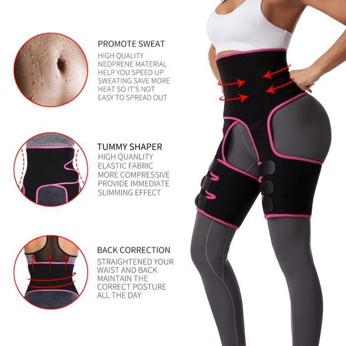 LETOUCH Waist Trainer Leg Shaper Thigh Trimmer Butt Lifting Leg Compress Slimming Belt-XXXL