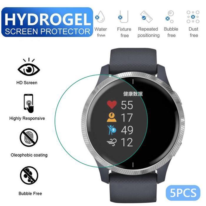 bracelet de montre vendu seul 5PCS TPU Hydrogel Film de protection d'écran transparent doux pour montre Garmin Venu ZCQ91018104_Occ