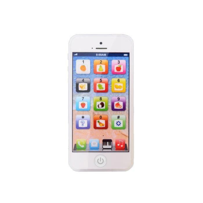 Téléphone Jouet enfant ,Tactile jouet éducatif pour enfants - Blanc