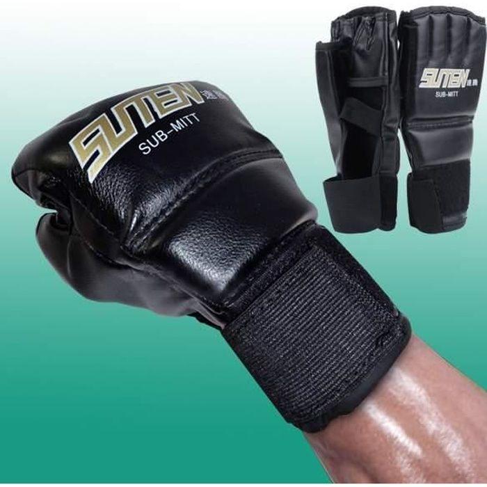 Gants de boxe Mitaines entraînement de Thai boxe MMA Muay