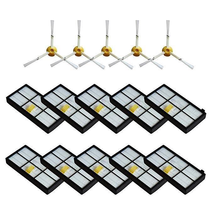 Kits de pièces de rechange pour iRobot aspirateurs Roomba série 800 900 Accessoires Filtres Brosses latérales