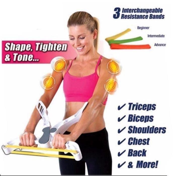 Wonder Arms - Résistance Elastique Musculation Machine d'entraînement du corps du bras comme vue sur la télévision Pr18069