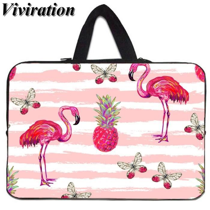 Sacoches & Housses Ordinateur,Viviration housse de transport pour HP MacBook Air 11-Google Chromebook - Type Flamingo002-14 pouces