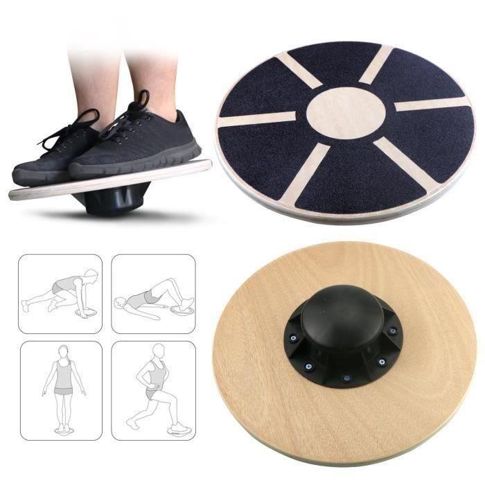Balance Board, Planche de thérapie, Plateau d'équilibre, Fitness Exercice coordination 39.5 cm de diamètre Pour Gym Fitness LBQ39