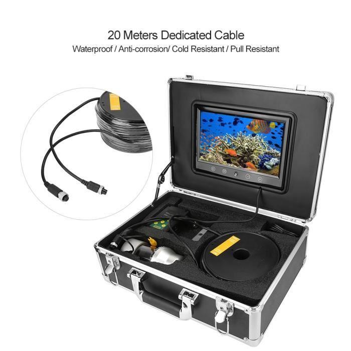 Caméra vidéo de recherche de poisson sous-marine 9 'caméra de pêche rotative à panoramique étanche avec câble de 50 m US